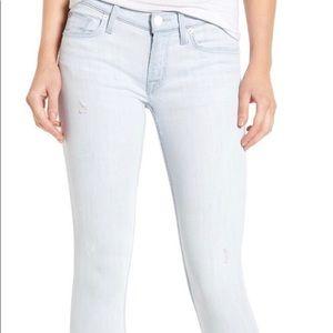 Hudson Tally Crop Skinny light  wash jeans